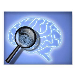 "Brain fingerprint 4.25"" x 5.5"" invitation card"