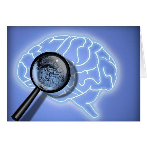 Brain fingerprint greeting cards