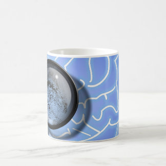 Brain fingerprint classic white coffee mug