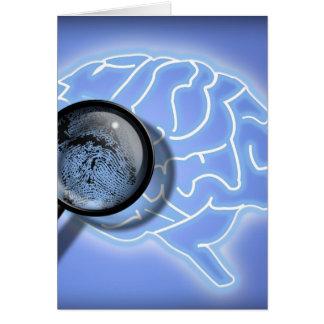 Brain fingerprint greeting card