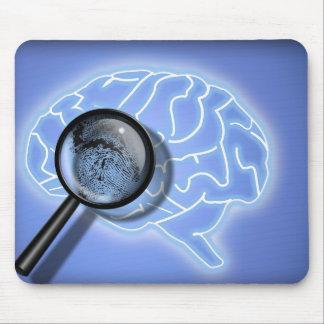 Brain fingerprint mouse pads