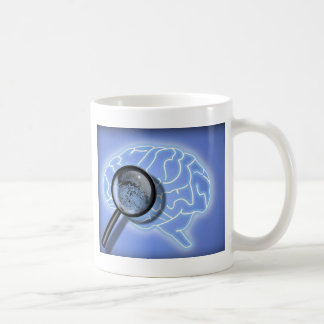 Brain fingerprint basic white mug