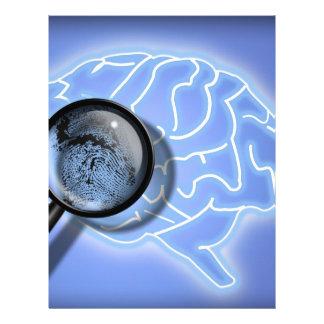Brain fingerprint personalized letterhead