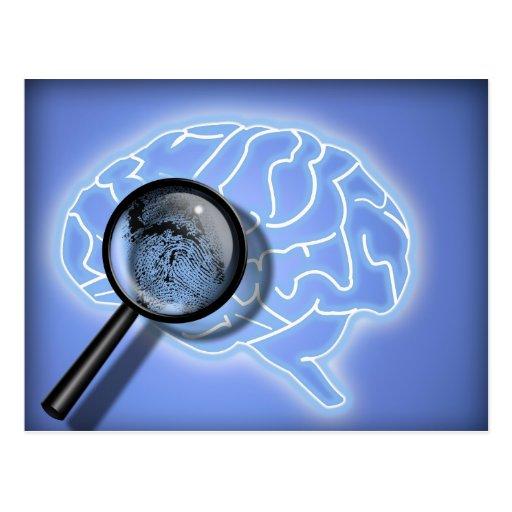 Brain fingerprint postcard