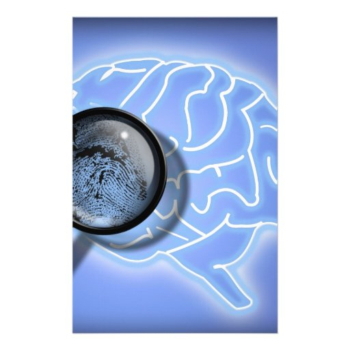 Brain fingerprint stationery paper