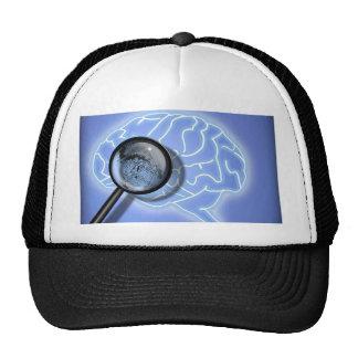 Brain fingerprint trucker hat