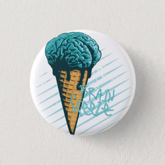 Brain Freeze Badge 1 Inch Round Button