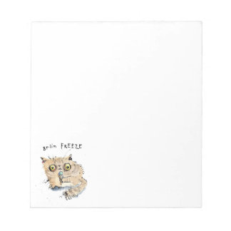 Brain freeze Kitten Notepad