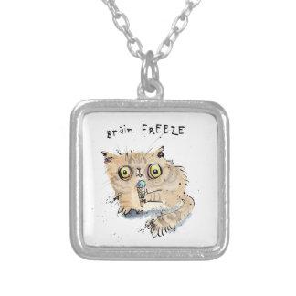 Brain freeze Kitten Silver Plated Necklace