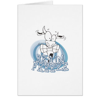 Brain Freeze with cow Card