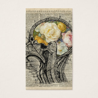 Brain Full Of Flowers,Nature Lover Dictionary Art Business Card