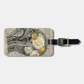 Brain Full Of Flowers,Nature Lover Dictionary Art Luggage Tag