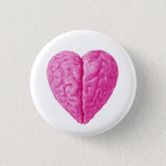 Brain Heart 1 Inch Round Button