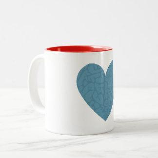Brain Heart Two-Tone Coffee Mug