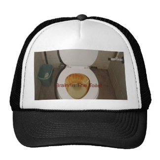 Brain In The Toilet Mesh Hat