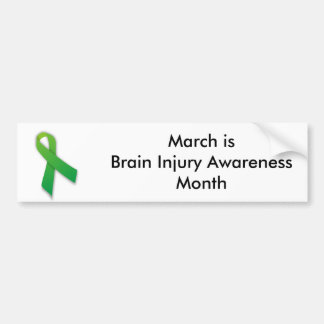 Brain Injury Bumper Sticker