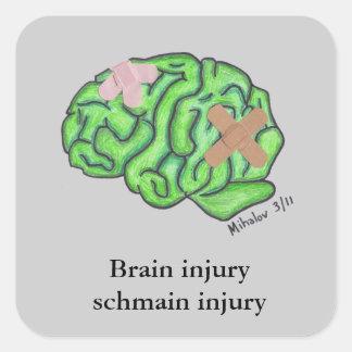 """Brain injury schmain injury"" sticker"