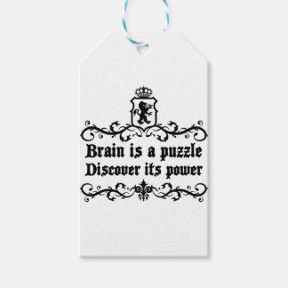 Brain Is A puzzle Discover Its Power Gift Tags