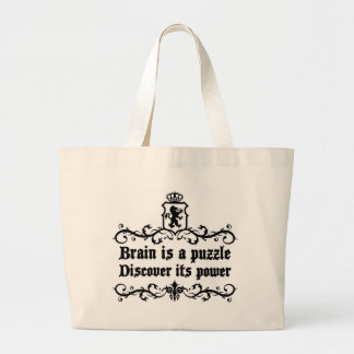 Brain Is A puzzle Discover Its Power Large Tote Bag