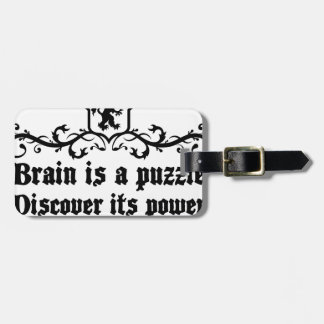 Brain Is A puzzle Discover Its Power Luggage Tag