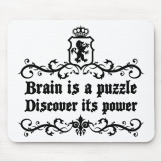 Brain Is A puzzle Discover Its Power Mouse Pad