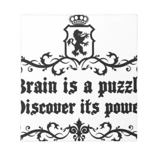 Brain Is A puzzle Discover Its Power Notepad