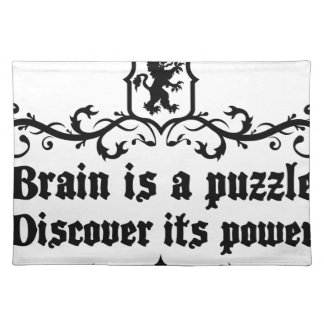 Brain Is A puzzle Discover Its Power Place Mat