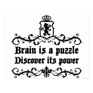 Brain Is A puzzle Discover Its Power Postcard