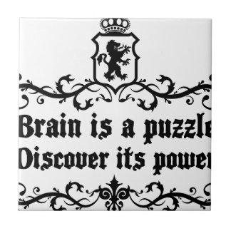 Brain Is A puzzle Discover Its Power Tile