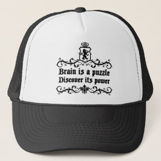 Brain Is A puzzle Discover Its Power Trucker Hat