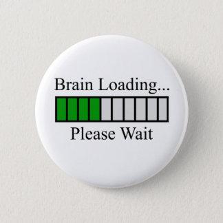 Brain Loading Bar 2 Inch Round Button