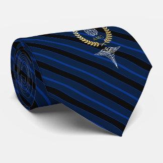 Brain Mental Health Professional Monogram Blue Tie