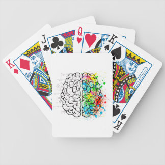 brain mind psychology idea hearts bicycle playing cards
