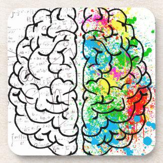 brain mind psychology idea hearts coaster