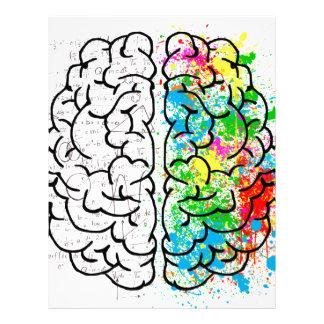 brain mind psychology idea hearts letterhead