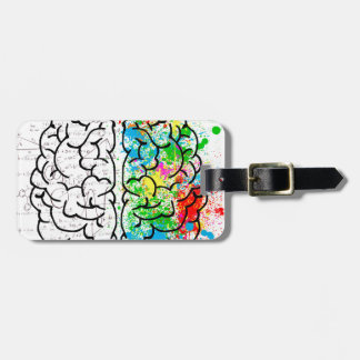 brain mind psychology idea hearts luggage tag