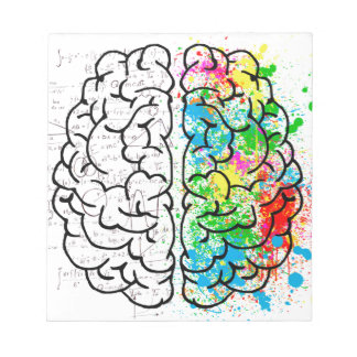 brain mind psychology idea hearts notepad