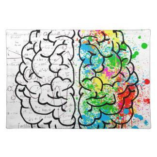 brain mind psychology idea hearts placemat