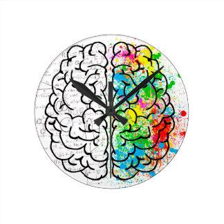 brain mind psychology idea hearts round clock