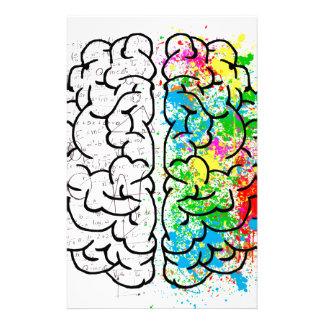 brain mind psychology idea hearts stationery