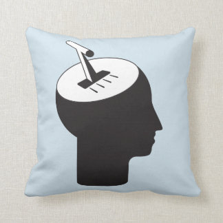 brain mode - thinking shift lever throw pillow