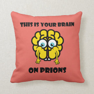 Brain on Prions Throw Pillow