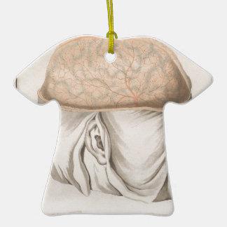 Brain One - Neuroanatomy Ceramic T-Shirt Ornament