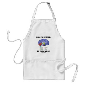 Brain Power Is For Real (Brain Anatomy Attitude) Standard Apron