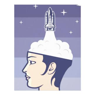 Brain Space Travel Customized Letterhead
