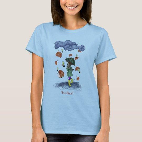 Brain Storm Baby-Doll T-Shirt Light Blue