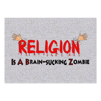 Brain-Sucking Zombie Large Business Card