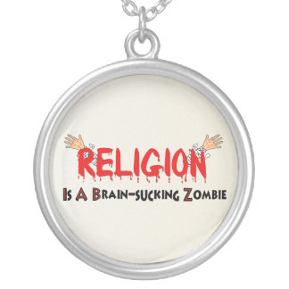 Brain-Sucking Zombie Silver Plated Necklace