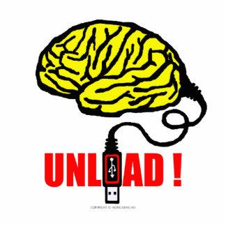 Brain to unload standing photo sculpture