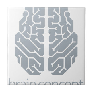 Brain Top Concept Ceramic Tile